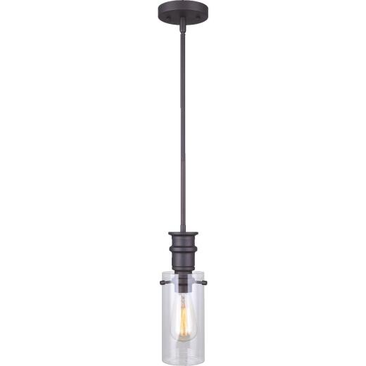Home Impressions Albany 1-Bulb Oil Rubbed Bronze Incandescent Pendant Light Fixture